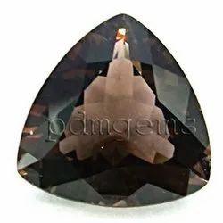 Smoky Quartz Faceted Trillion Gemstone