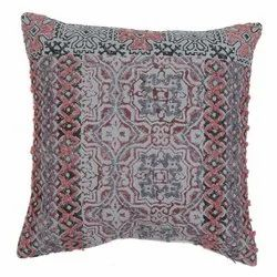 Multi Pattern Printed Embroidered Cotton Cushion Cover