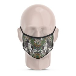 Abstract Flower Reusable Printed Face Mask