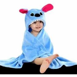 Embroidered Little Cubs Blue Baby Hooded Bath Towel, 0-1 Year