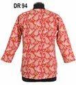 Cotton Hand Block Print Women's Short Top Tunic Kurti DR94