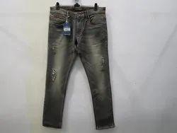 Mens Grey Colour Slim Flit Stretch Jeans(PW - 005B)