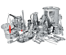 Silver Bhalaria 121 Pcs Drum Set, for Hotel/Restaurant