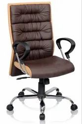 Chairwale Leather Disk Medium Back Chair, Model Name/Number: A5007