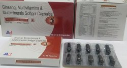 Multi Vitamins Anti Oxidants and Ginseng Capsules