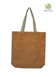 Canvas Bag with Waves