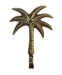Brass Palm Tree Wall Hook