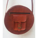Hand Made Round Leather Bag
