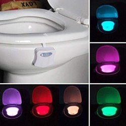 LED Toilet Night Light with Motion Sensor Activated Glow