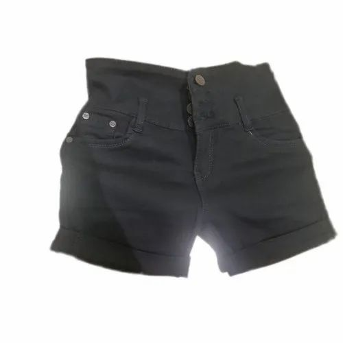 coupon code fashion style exquisite style Plain Ladies Black Denim Short, Rs 550 /per piece, Sai Kreations ...