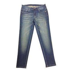 Ladies Blue Regular Fit Stretchable Denim Jeans