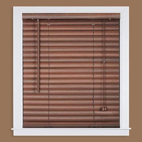 Dark Brown Horizontal Vinyl Wooden Blind
