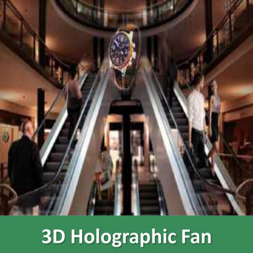 3d Holographic Fan Eye Catching Advertising Display