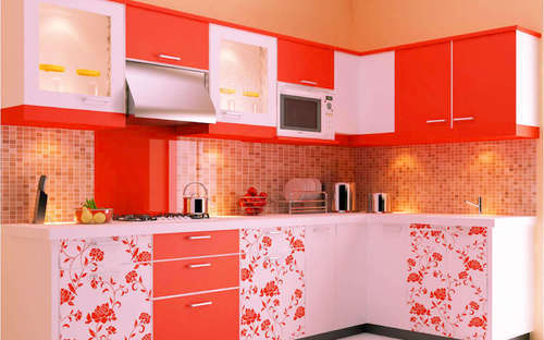 L Shape Kitchen At Rs 1400 Square Feet Modular Kitchen Amar Safe Company Greater Noida