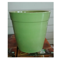 Ceramic Green Glass Planter