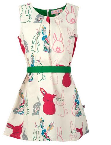 647f59bba51dd Multicolor Beanie Bugs White Printed Kids Dress | ID: 19279124497