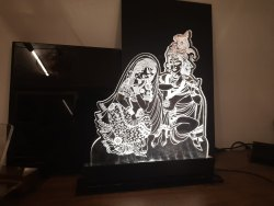 Acrylic LED Radha Krishna