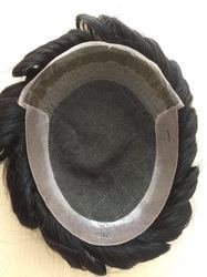 Octagon Hair Toupee / Patches / Systems / Wigs For Men 100 % Natural Human Hair Black
