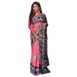 Casual Wear Jute Cotton Printed Saree