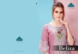 Beliza-Stf Trendy South Cotton Kurtis Summer Collection