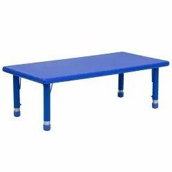 Blue Kids Rectangular Plastic Table