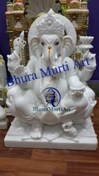White Marble Lord Ganesh Statue