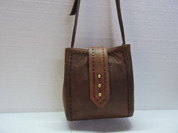 Genuine Leather Breaded Messenger Bag