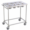 SS Kitchen Rolling Trolley
