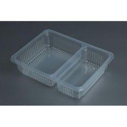2 Compartment Plastic Food Container