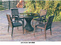 Brown Outdoor Chair And Table