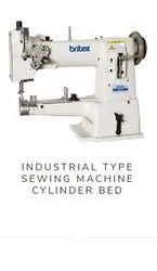 Britex Industrial Type Sewing Machine Cylinder Bed