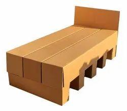 Corrugated Cardboard Bed, 6.5 x 3 x 3 feet