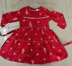 Regular Wear Frocks & Dresses Girls Frock, Size: 24.0