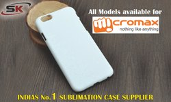 Plastic White 3D Sublimation Mobile Cover for Micromax