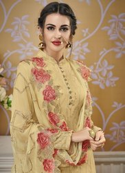 Set 2 Set Beautiful Party Wear Faux Georgette Suit with Embroidery Work
