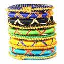 Indian Handcraft Fancy Design Party Wear Silk Thread bangles