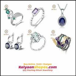 5be9ba76a8835c Necklaces 17.8Ct Natural Iolite Blue Mystic Quartz 925 Sterling Silver  Vintage & Penda.