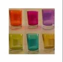 Colour Glass  Candle Holder