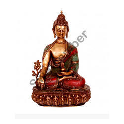 Brass handicraft Buddha idol