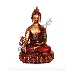 Brass handicraft Buddha idol
