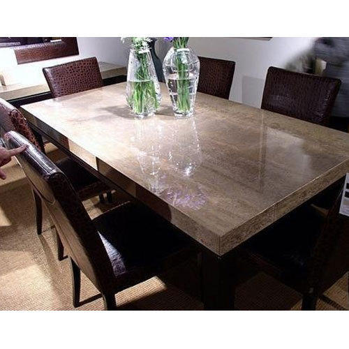 Brown Stone Dining Table Rs 32000 Set Star Furniture
