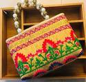 Embroidered Designer Zipper Bags
