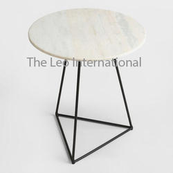 Decorative Metal frame Marble top Table