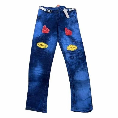 Casual Wear Regular Fit Blue Denim Kids Jeans