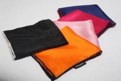 Silk Plain Solid Color Pocket Squares, Size: 40x40 cm