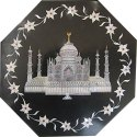 Home Decoration Octagonal Black Marble Dining
