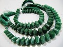 Emerald Twisted Briolette Beads .