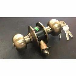 Mild Steel Bedroom Lock -Round Knob for Security