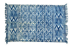 Indigo Blue Designer Cotton Rugs