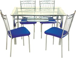 Decorative Steel Dining Table, For Home, Size: 4' X 25'